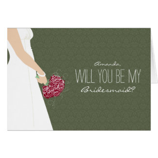 Will You Be My Bridesmaid Card (evergreen)
