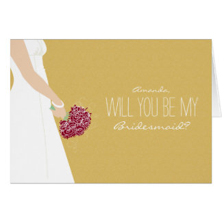 Will You Be My Bridesmaid Card (gold)