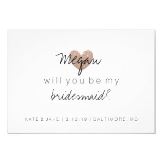 Will You Be My Bridesmaid Card - Heart's Fab 2 RG