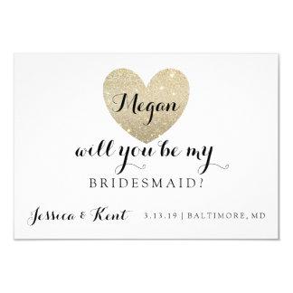 Will You Be My Bridesmaid Card - Heart's Fab II 9 Cm X 13 Cm Invitation Card