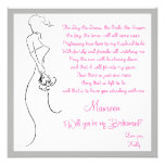 Will you be my Bridesmaid? Card Personalised Invitation