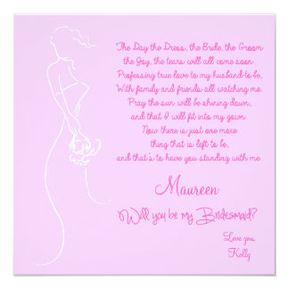 Will you be my Bridesmaid? Card Personalized Invites