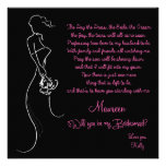 Will you be my Bridesmaid? Card Personalized Invitation