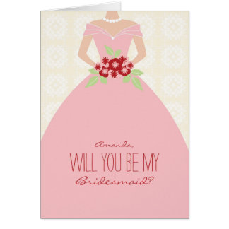 Will You Be My Bridesmaid Card (light pink)