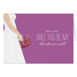 Will You Be My Bridesmaid Card (orchid)