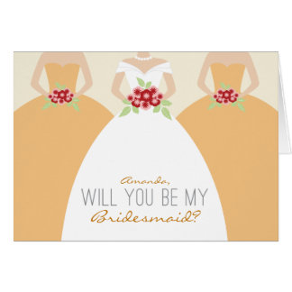 Will You Be My Bridesmaid Card (peach)