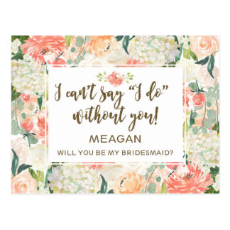 Will you be my bridesmaid card personalised