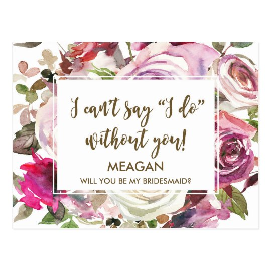 Will You Be My Bridesmaid Card Personalised Zazzle Com Au