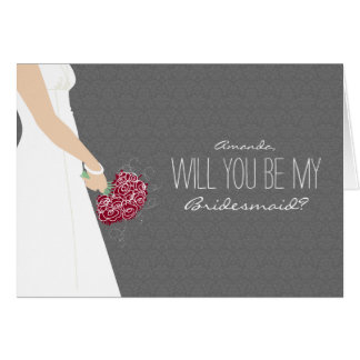 Will You Be My Bridesmaid Card (platinum grey)
