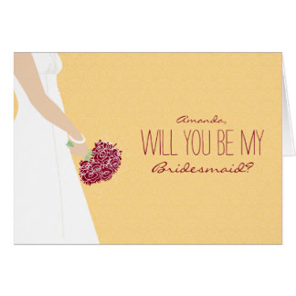 Will You Be My Bridesmaid Card (sunflower)