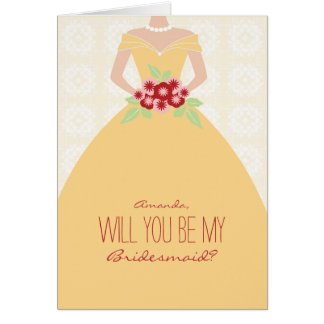 Will You Be My Bridesmaid Card (sunflowers)