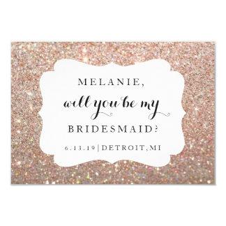 Will You Be My Bridesmaid Card -Weddin Day Rose 9 Cm X 13 Cm Invitation Card