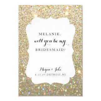 Will You Be My Bridesmaid Card - Wedding Day Fab 9 Cm X 13 Cm Invitation Card