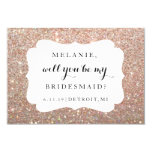 Will You Be My Bridesmaid Card -Wedding Day Rose 9 Cm X 13 Cm Invitation Card