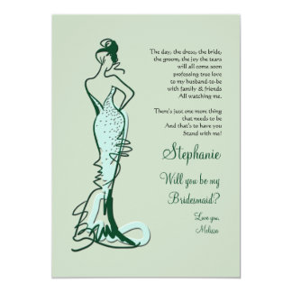 Will You Be My Bridesmaid Cards 13 Cm X 18 Cm Invitation Card