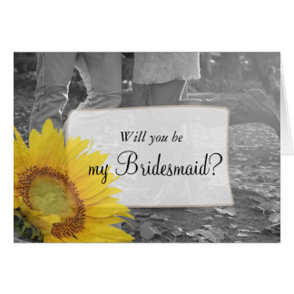 Will you be my Bridesmaid Country & Western Card