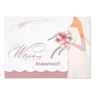 "Will you be my Bridesmaid? Custom Invitation Cards 5"" X 7"" Invitation Card"