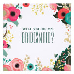 Will you be my Bridesmaid? Custom Invitation Cards