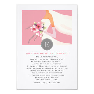 Will you be my Bridesmaid? Custom Photo Cards 13 Cm X 18 Cm Invitation Card