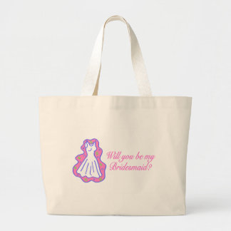 Will You Be My Bridesmaid (Dress) Jumbo Tote Bag