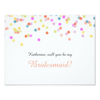 Will you Be my Bridesmaid Festive Confetti Card