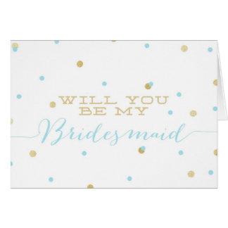 Will You Be My Bridesmaid? | Gold Glitter Confetti Card