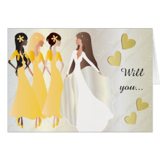 Will you be My Bridesmaid in Sunshine Yellow Card