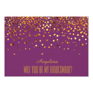 Will you be my bridesmaid? 13 cm x 18 cm invitation card