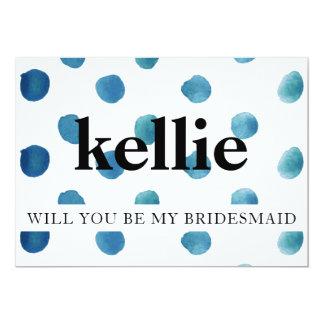 Will You Be My Bridesmaid/Maid of Honor Card Polka