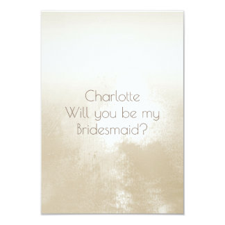 Will You Be My Bridesmaid? Ombre Ivory 9 Cm X 13 Cm Invitation Card