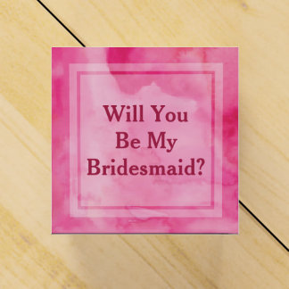 Will You Be My Bridesmaid Pink Gift Box