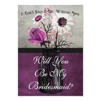 Will You Be My Bridesmaid Purple Personalised Card