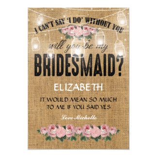 Will you be my Bridesmaid? | Rustic Burlap Card