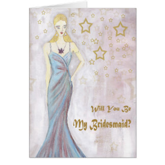 Will you be my Bridesmaid Something Blue Weddings Card