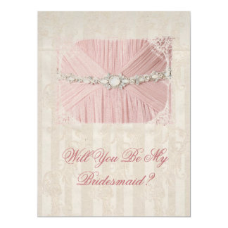 Will You Be My Bridesmaid Vintage Invitation