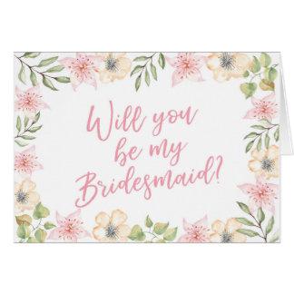 Will you be my bridesmaid wedding card