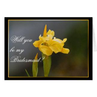 Will you be my bridesmaid Wedding Iris card