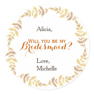 Will you be my bridesmaid wreath card