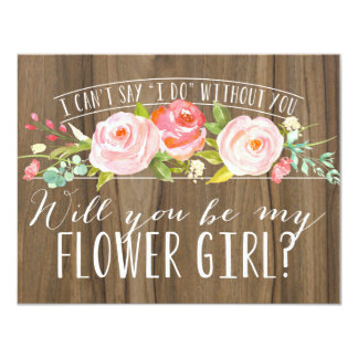 Will You Be My Flower Girl | Bridesmaid Card