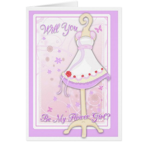 Will You Be My Flower Girl Greeting Cards