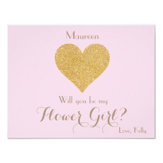 Will you be my Flower Girl? Card 11 Cm X 14 Cm Invitation Card