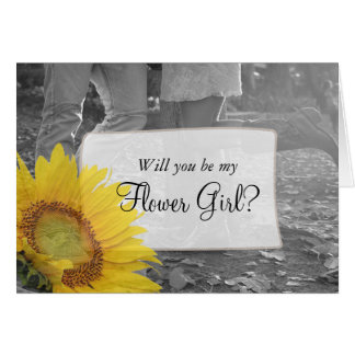 Will you be my Flower Girl  Country & Western Card