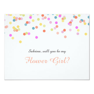 Will you Be my Flower Girl Festive Confetti Card