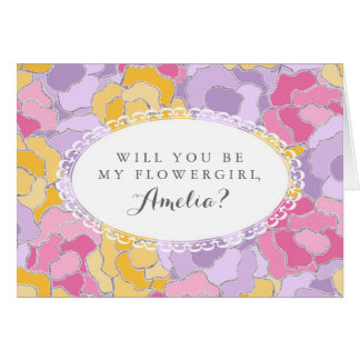 """""""Will You Be My Flower Girl?"""" Greeting Card"""