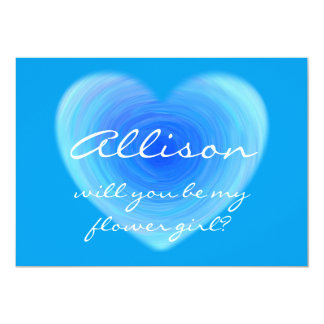 Will You Be My Flower Girl? Heart Personalized 13 Cm X 18 Cm Invitation Card