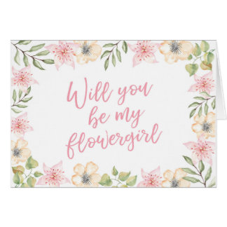 Will you be my flowergirl wedding card