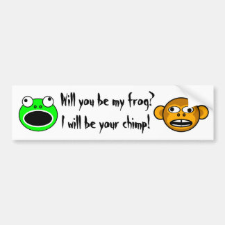 Will you be my frog? bumper stickers