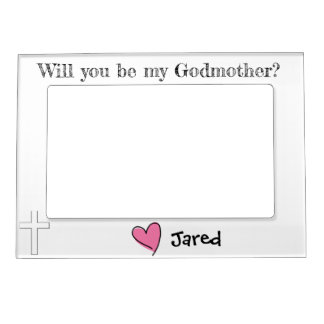 will you be my godmother? magnetic picture frame