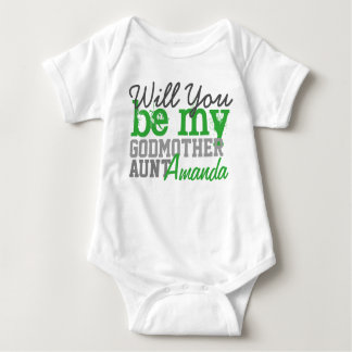 Will You Be My Godmother. (With Your Aunt Name) Tshirts