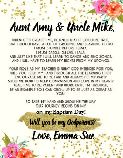 Godmother gifts will you be my godmother ideas zazzle au will you be my godparent poem gift puzzle m4hsunfo